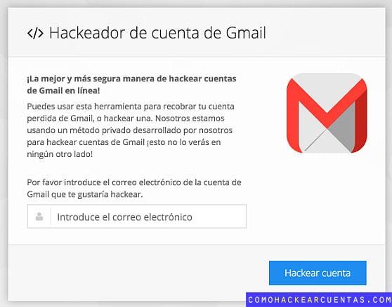 Hackear cuenta de Gmail