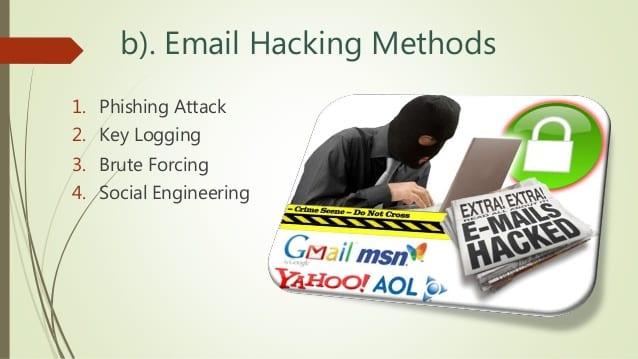 Tres métodos modernos para atacar una cuenta de email