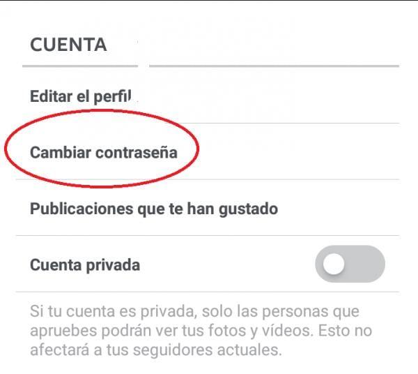 CAMBIAR CONTRASEÑA PASSWORD INSTAGRAM